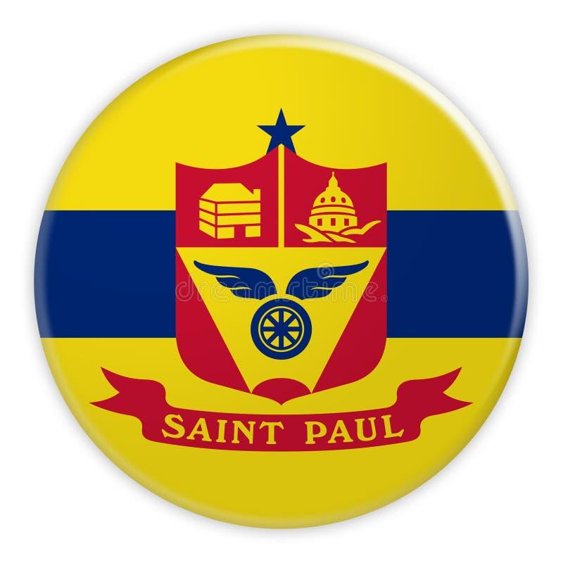 Santo Paul Flag Badge, ejemplo 3d en el fondo blanco libre illustration