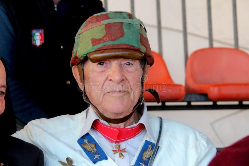 Santo Pelliccia un veterano de la batalla de El Alamein imágenes de archivo libres de regalías