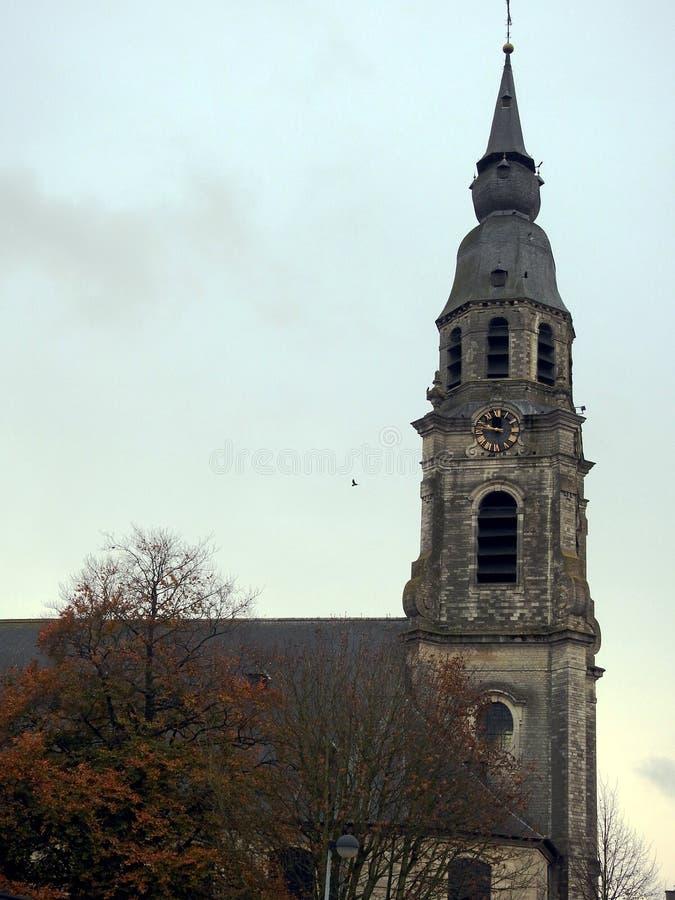 Santo Peters Church - Puurs - Bélgica foto de archivo