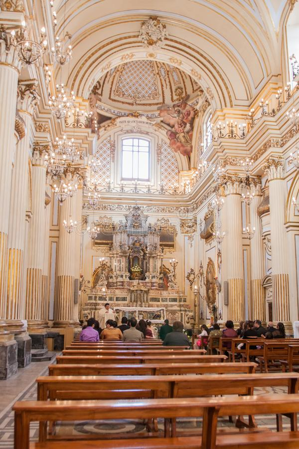 Santo Placidus Church, Catania, Sicilia, Italia foto de archivo libre de regalías