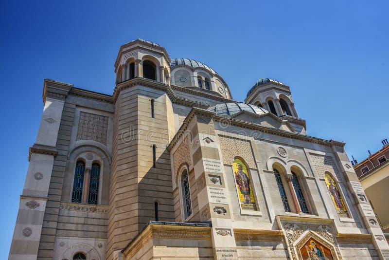 Santo Spyridon en Trieste, Italia fotografía de archivo libre de regalías