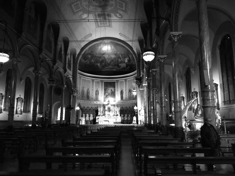 Santo Stanislas Kostka Catholic Church, Chicago, Illinois los E.E.U.U. fotos de archivo