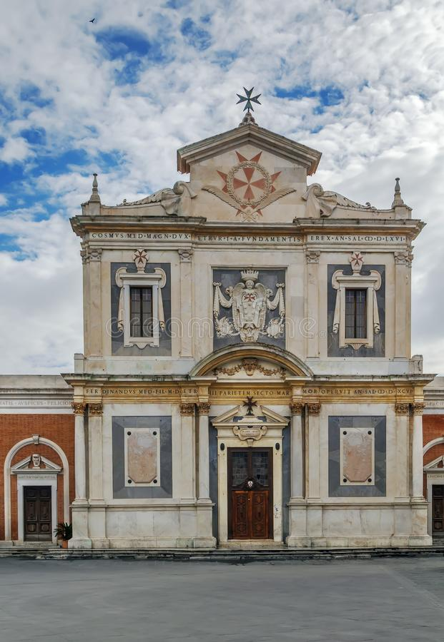 Santo Stefano dei Cavalieri, Pisa, Italien royaltyfria bilder