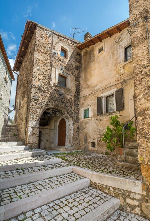 Scenic sight in Santo Stefano di Sessanio, province of L`Aquila, Abruzzo, central Italy. royalty free stock images