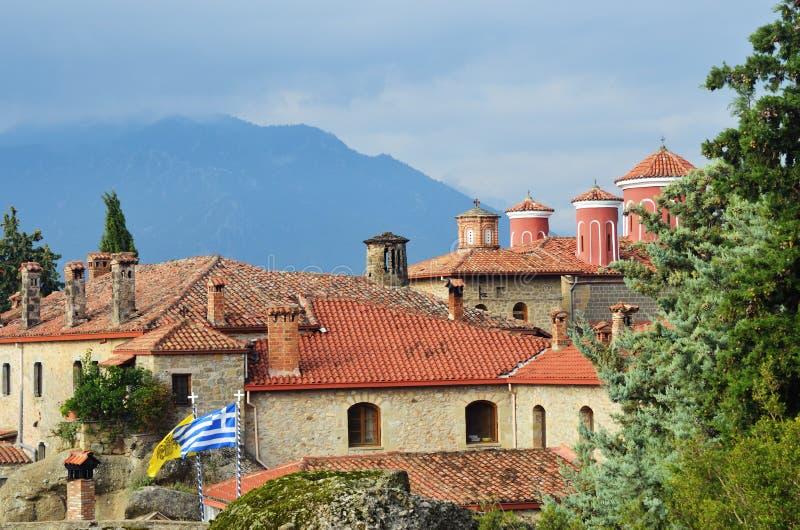 Santo Stephen Holy Monastery, Meteora, Grecia imágenes de archivo libres de regalías