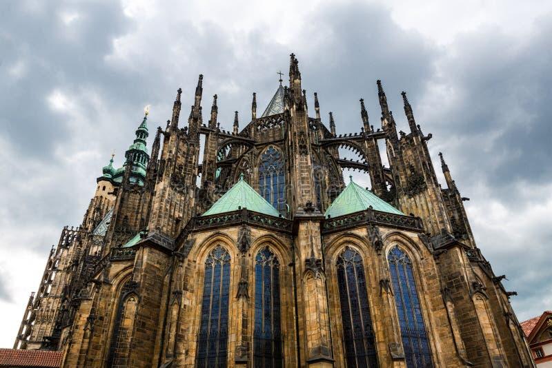 Santo Vitus Cathedral, Praga, Rep?blica Checa fotografía de archivo