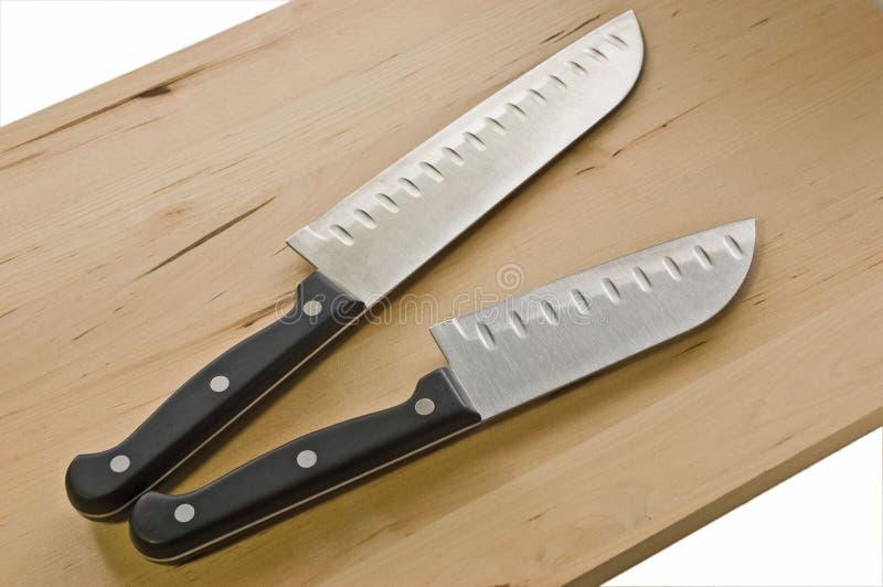 santoku ножей шеф-повара стоковое фото rf