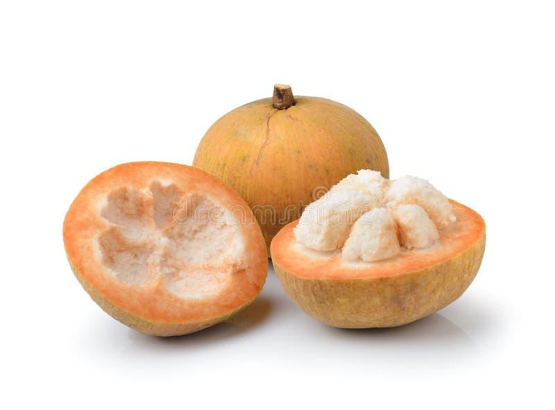 Santol-Frucht lokalisiert auf weißem Hintergrund lizenzfreies stockfoto