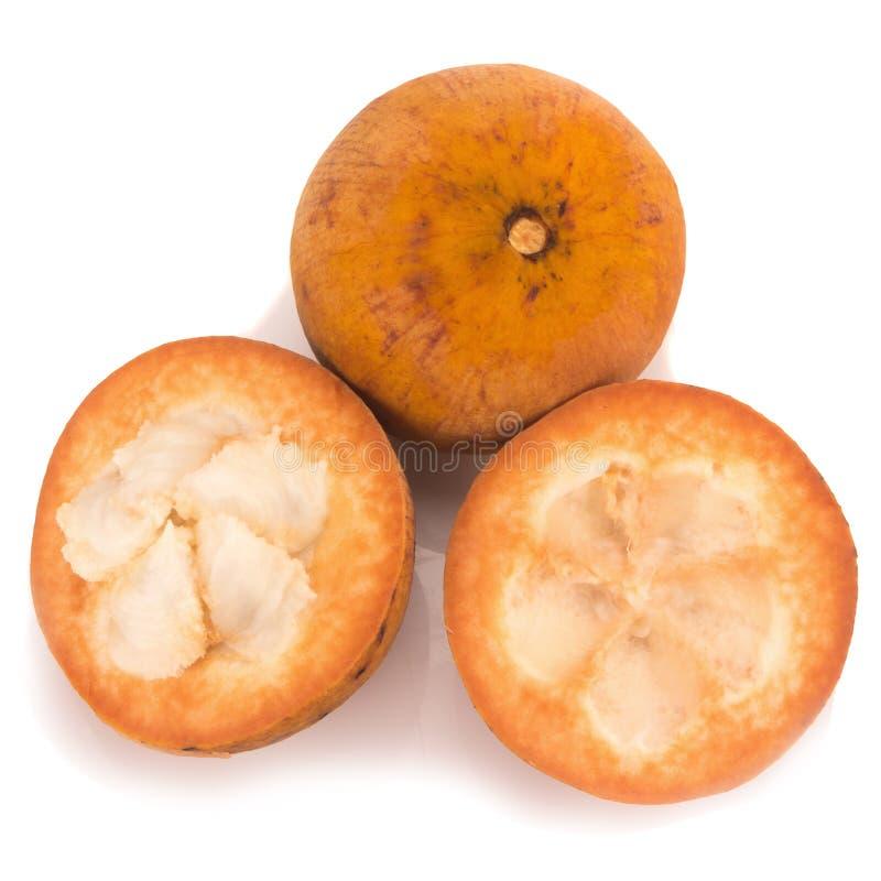 Santol-Frucht lokalisiert auf weißem Hintergrund lizenzfreie stockbilder