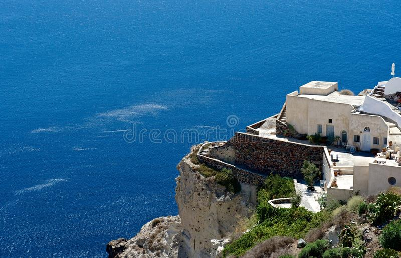 Santorini大阳台  免版税库存照片
