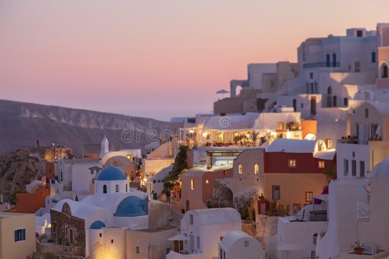 Santorini日落 图库摄影