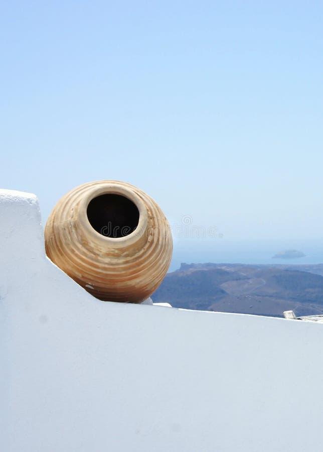 Santorini看法  库存照片