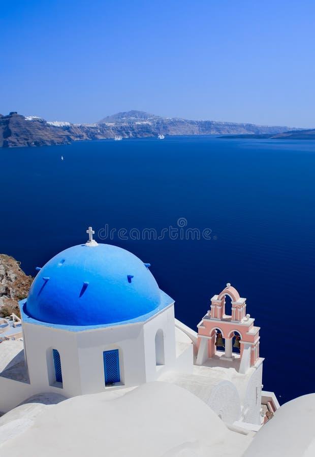 Santorini视图 免版税库存照片