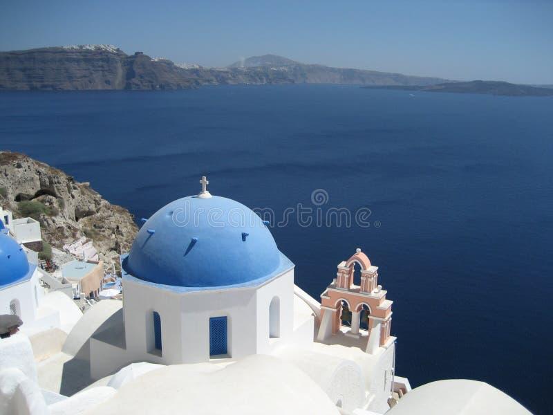Santorini视图 免版税图库摄影