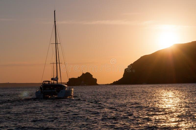 Santorini视图 免版税库存图片