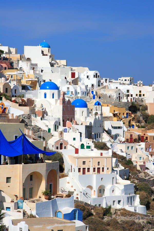 Download Santorini ö Grekland arkivfoto. Bild av restaurang, stil - 19790966