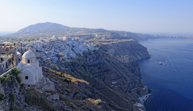 Santorini ökustlinje royaltyfri foto