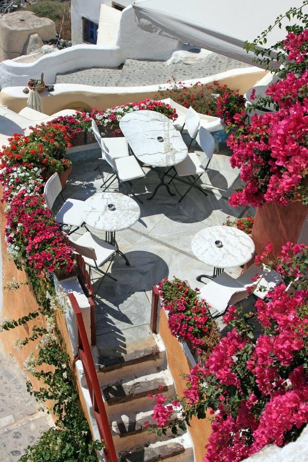 santorini εστιατορίων στοκ φωτογραφία με δικαίωμα ελεύθερης χρήσης