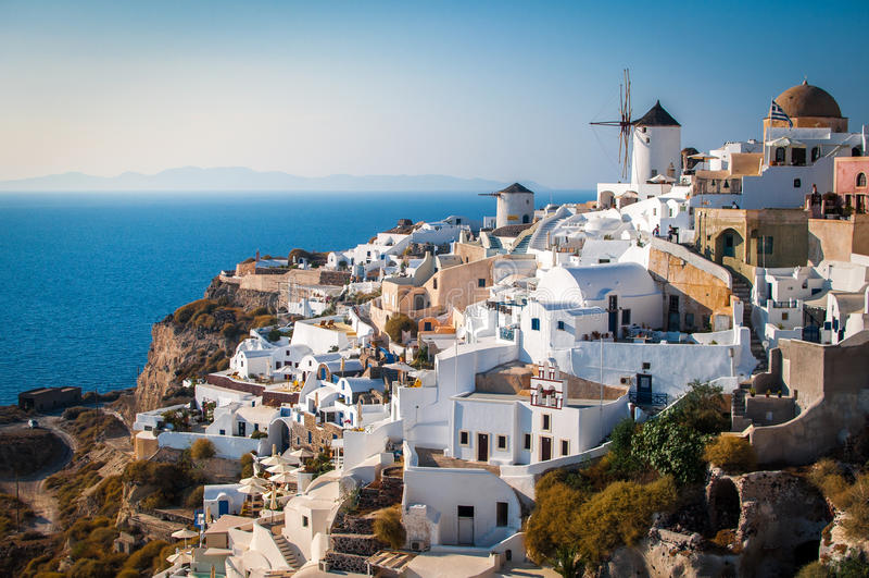 Santorini Ελλάδα, καλύτεροι προορισμοί διακοπών στον κόσμο στοκ εικόνες