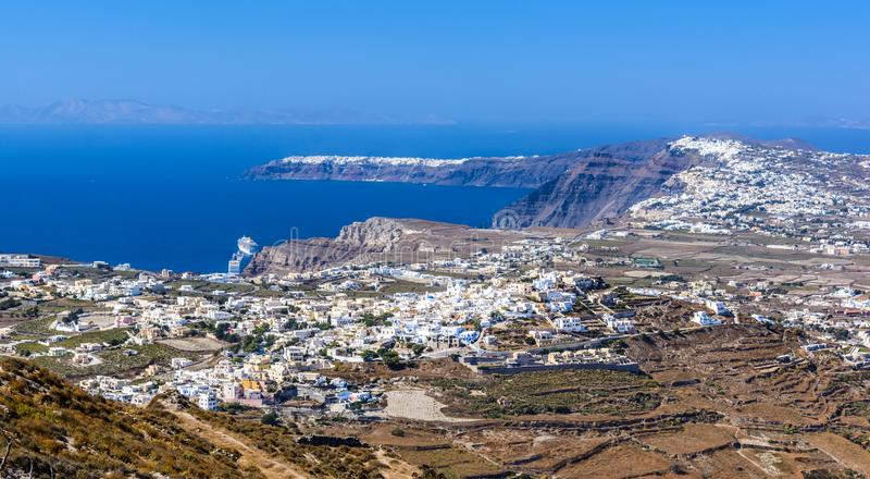 Santorini, νησιά των Κυκλάδων Ελλάδα Παραδοσιακό και διάσημο gree στοκ φωτογραφία