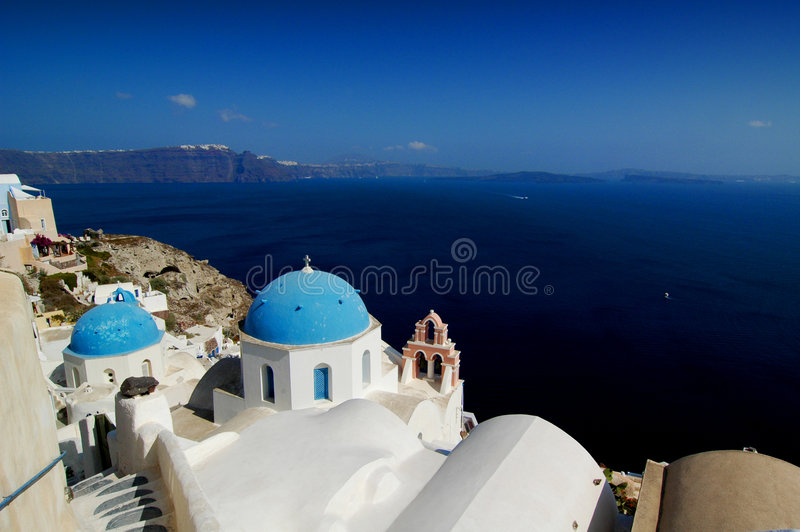 santorini της Ελλάδας εκκλησιών στοκ εικόνες