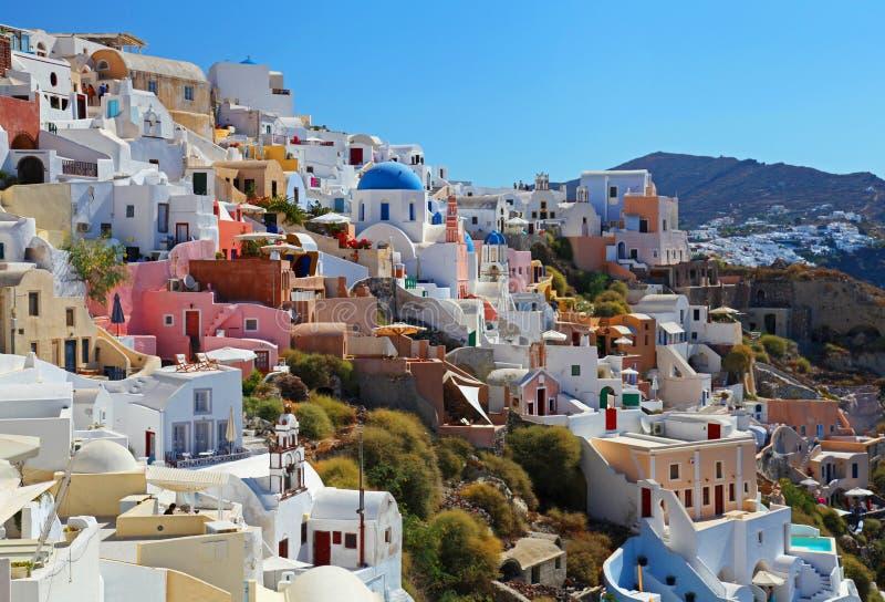 Santorini в Греции стоковые изображения