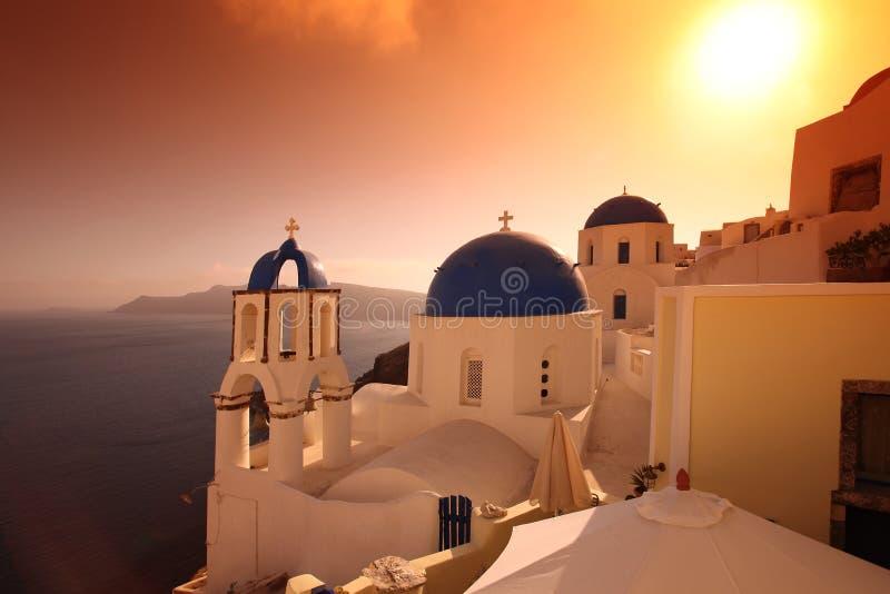 santorini Греции oia церков стоковая фотография rf