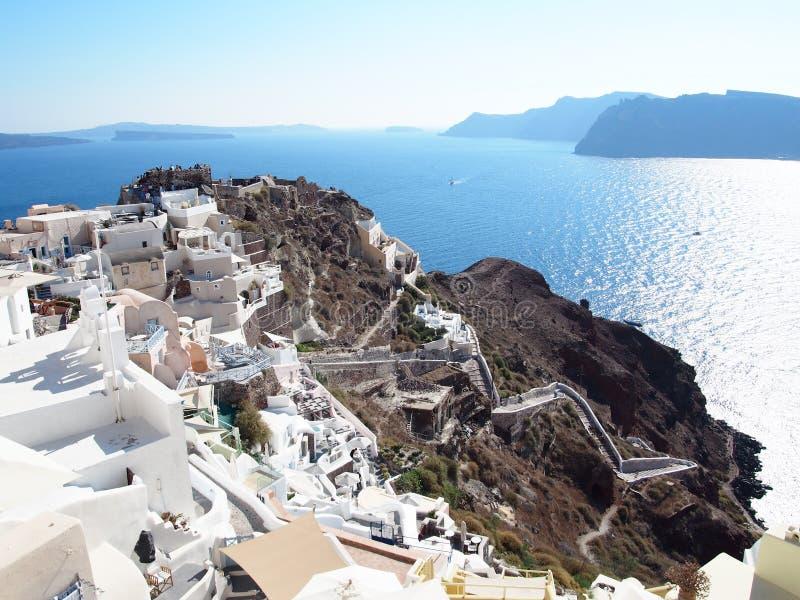 Santorini к день стоковые изображения rf