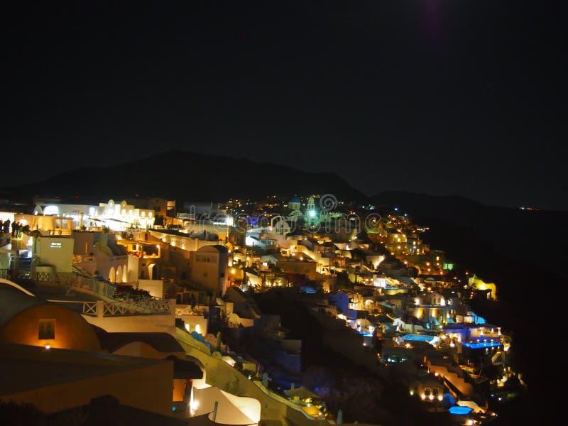 Santorini к ноча стоковое изображение rf