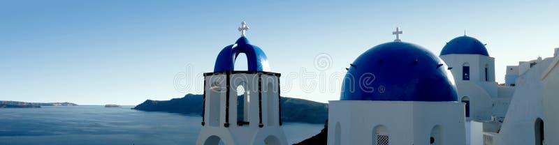 santorini панорамы стоковые изображения