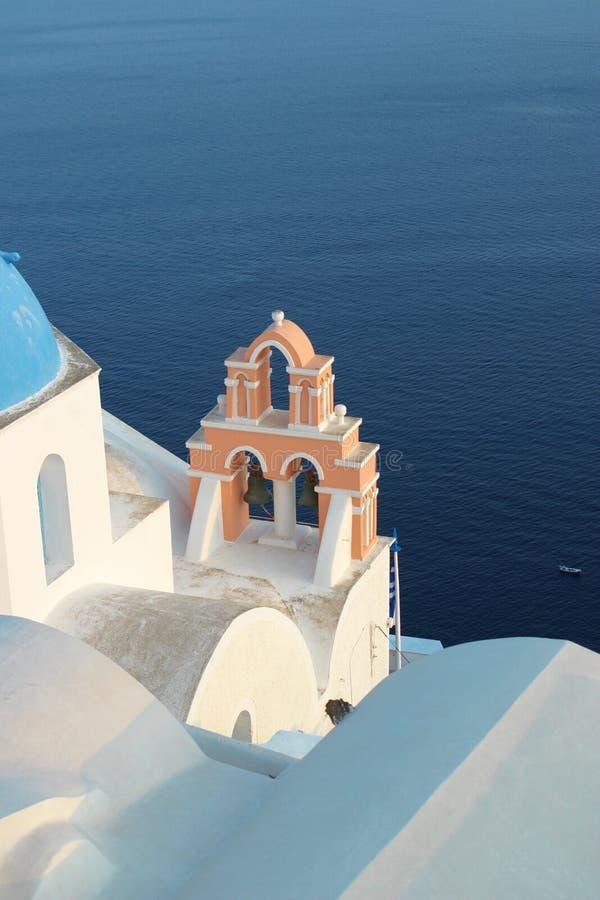 santorini церков стоковые фотографии rf
