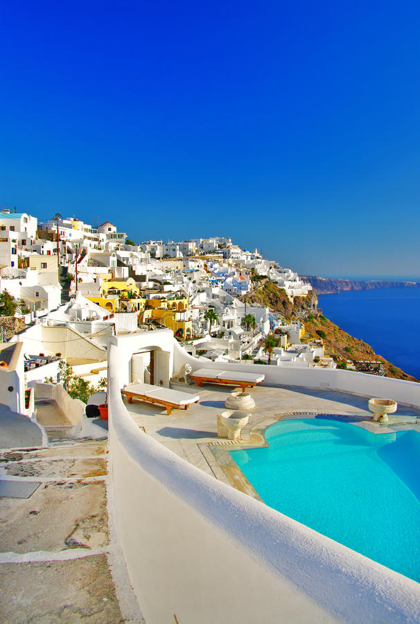 Download Santorini stock image. Image of restaurant, house, cyclades - 26877423