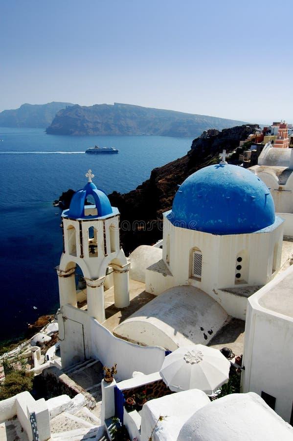 Santorini 4 stock afbeeldingen