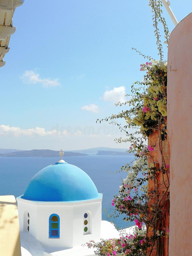Santorini alleyways royalty free stock photos