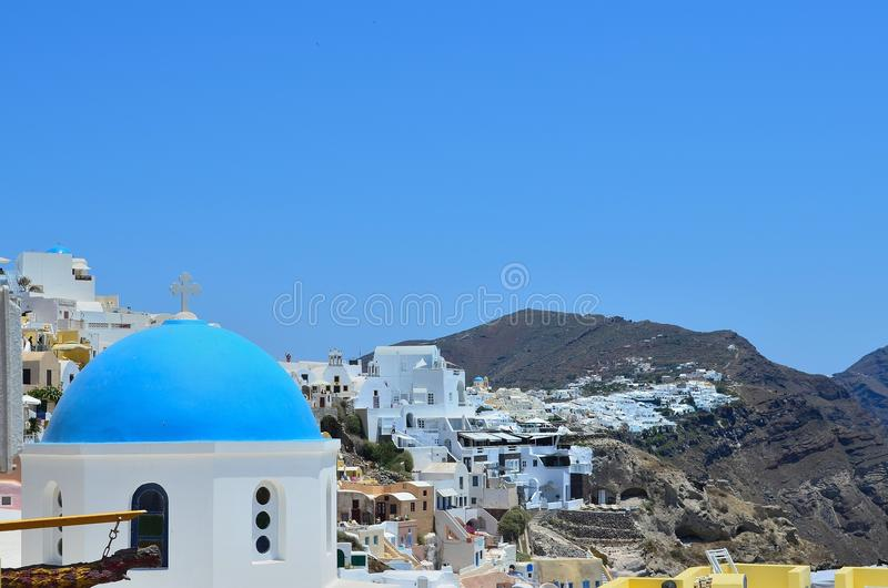Santorini from another view stock images