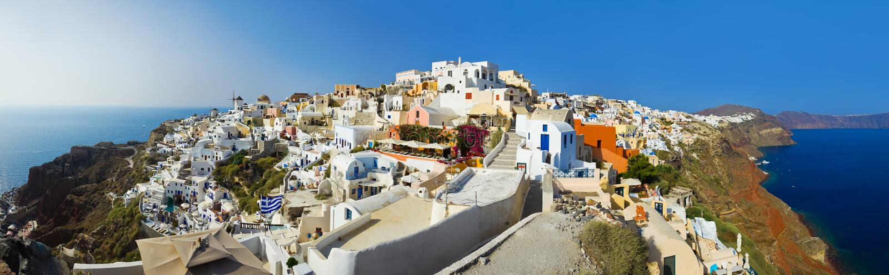 Santorini Ansicht (Oia), Griechenland lizenzfreies stockfoto