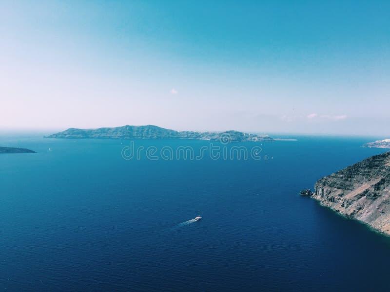 Santorini azul fotos de archivo