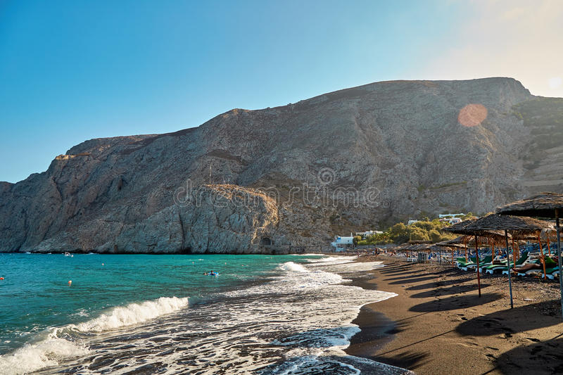 Santorini beach, Greece royalty free stock image