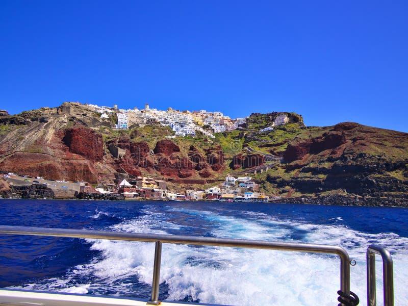 Santorini boat ride. stock images