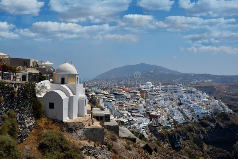 Santorini bonito Grécia fotografia de stock