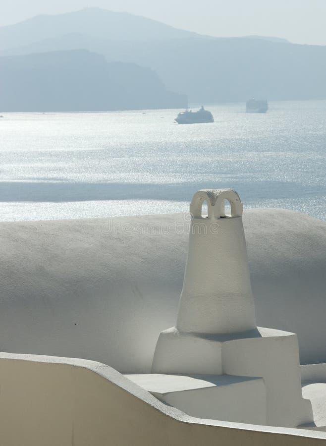 Santorini branco foto de stock royalty free