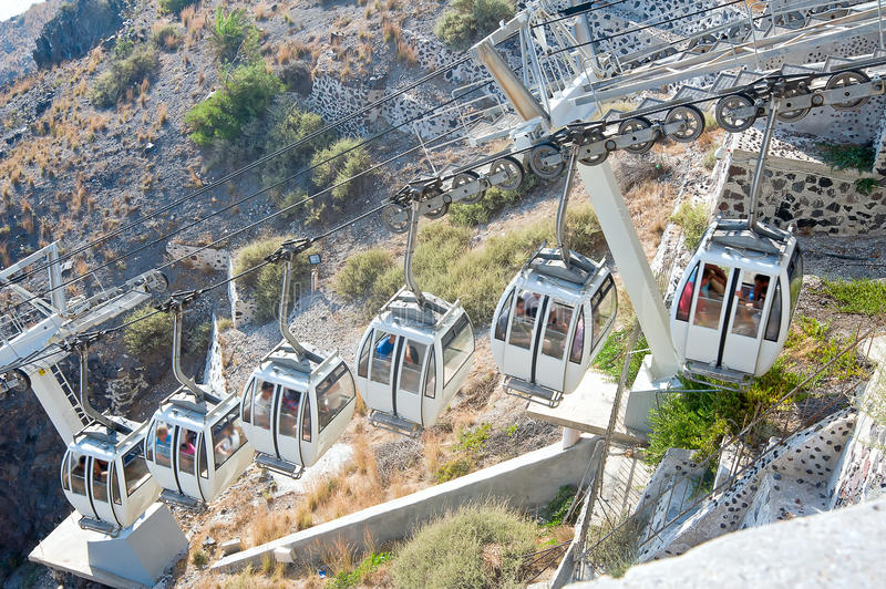 Download Santorini cable car stock photo. Image of nice, lovely - 26516678