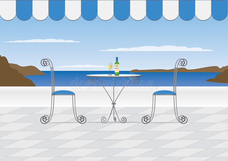 Download Santorini Cafe stock vector. Image of restaurant, meal - 17904160