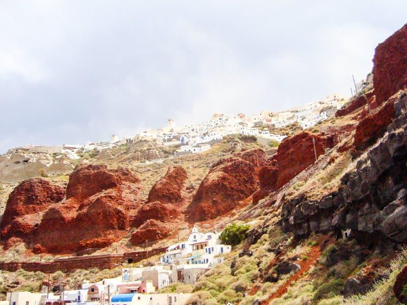 Santorini caldera arkivbild