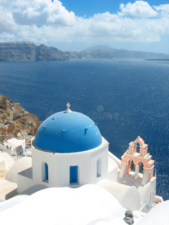 Free Santorini Church Stock Photography - 794412