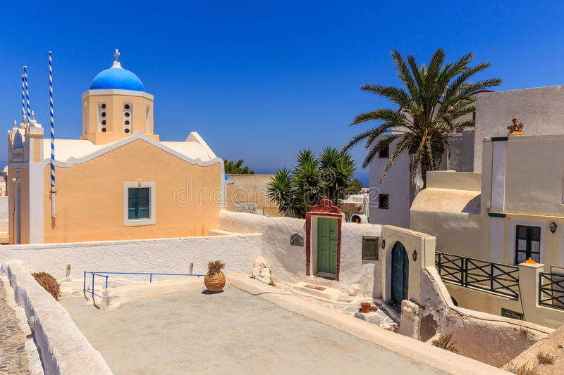 Santorini church in Oia royalty free stock photography