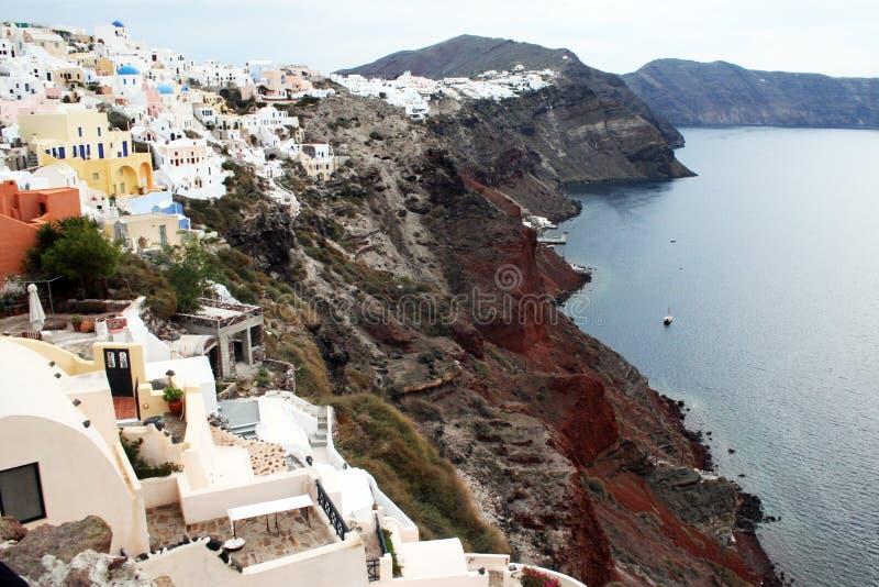 Santorini Cliff Stock Images