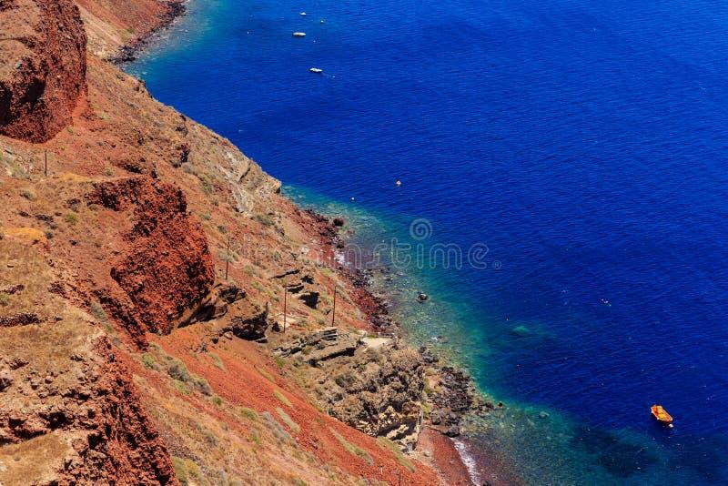 Santorini coast royalty free stock photos