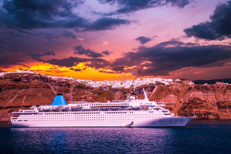 Santorini, Cyclades Islands, Greece. royalty free stock images
