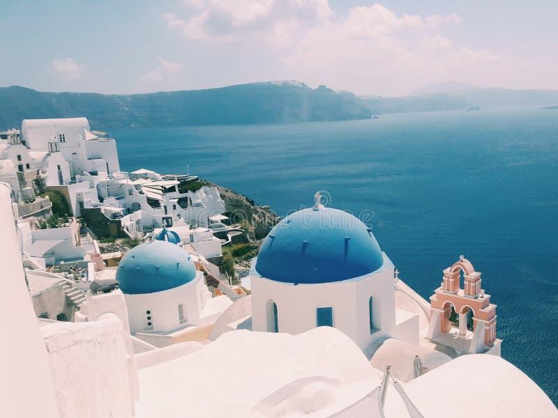Santorini di vista di OIA fotografia stock